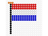 Kralenplank Vlag Nederland