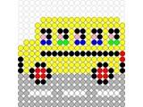 Kralenplank Schoolbus
