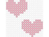 Kralenplank Harten 2 stuks