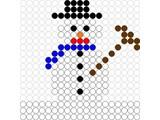 Kralenplank Sneeuwpop 4