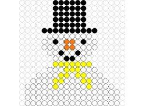 Kralenplank Sneeuwpop 3