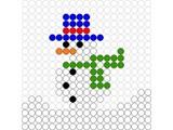Kralenplank Sneeuwpop 2