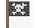 Kralenplank Piratenvlag