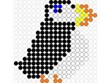 Kralenplank Papegaaiduiker