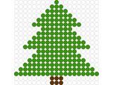 Kralenplank Kerstboom 1