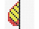 Kralenplank Herfstblad half 2