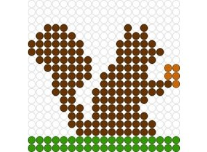Kralenplank Eekhoorn
