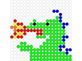 Kralenplank Draak