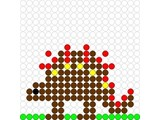 Kralenplank Dino 1
