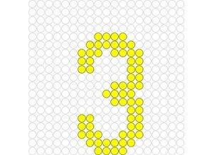 Kralenplank Cijfer 3