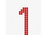 Kralenplank Cijfer 1