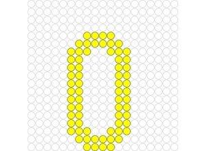 Kralenplank Cijfer 0
