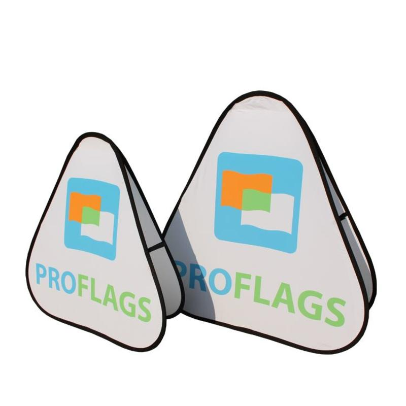 Pop up banner, driehoek