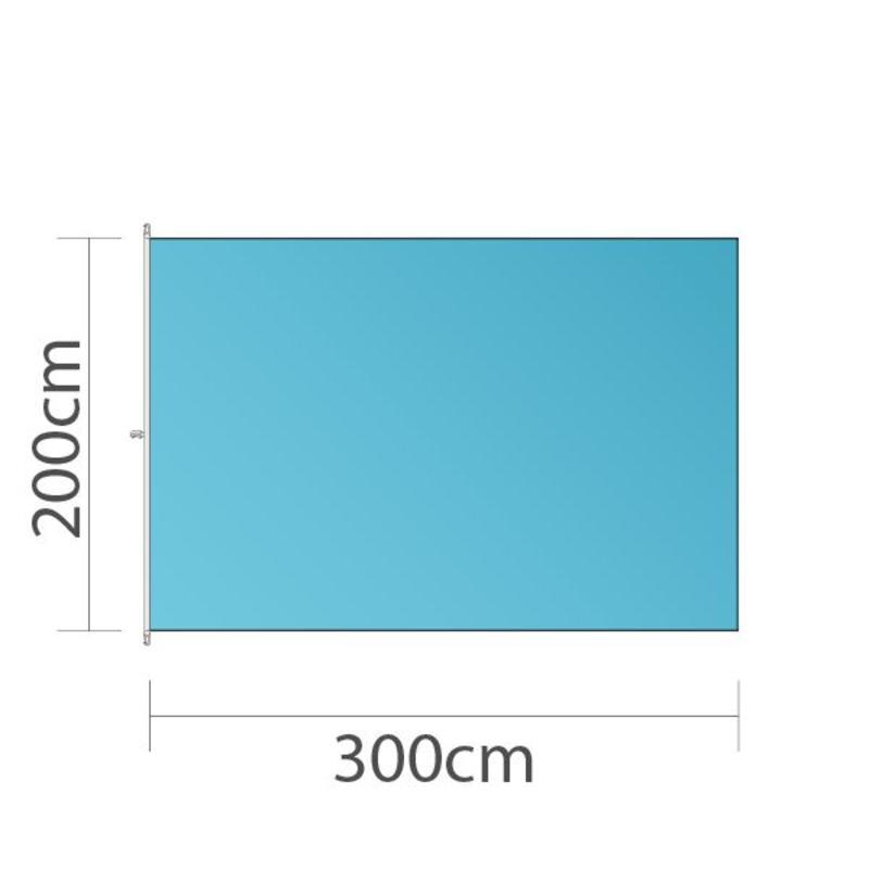 Mastvlag, full colour bedrukt, 300x200cm
