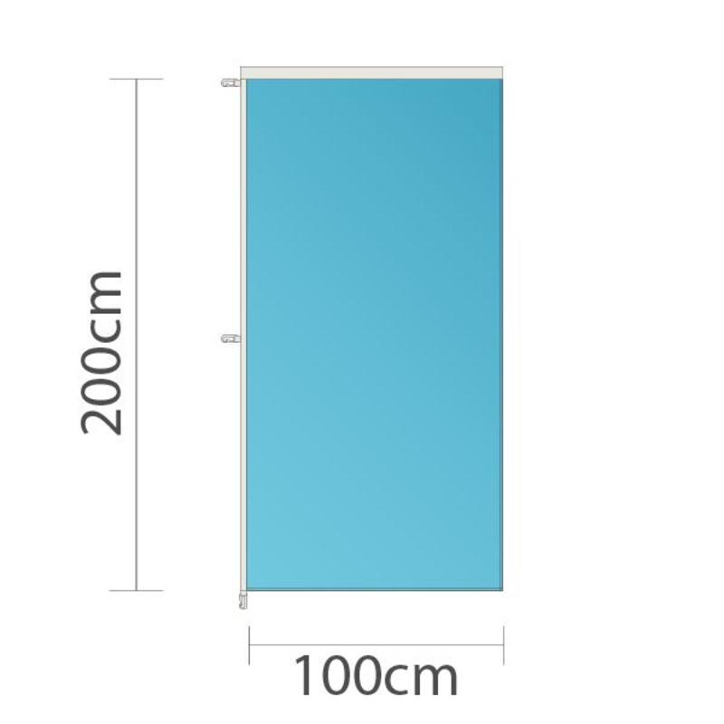 Banier, full colour bedrukt, 100x200cm
