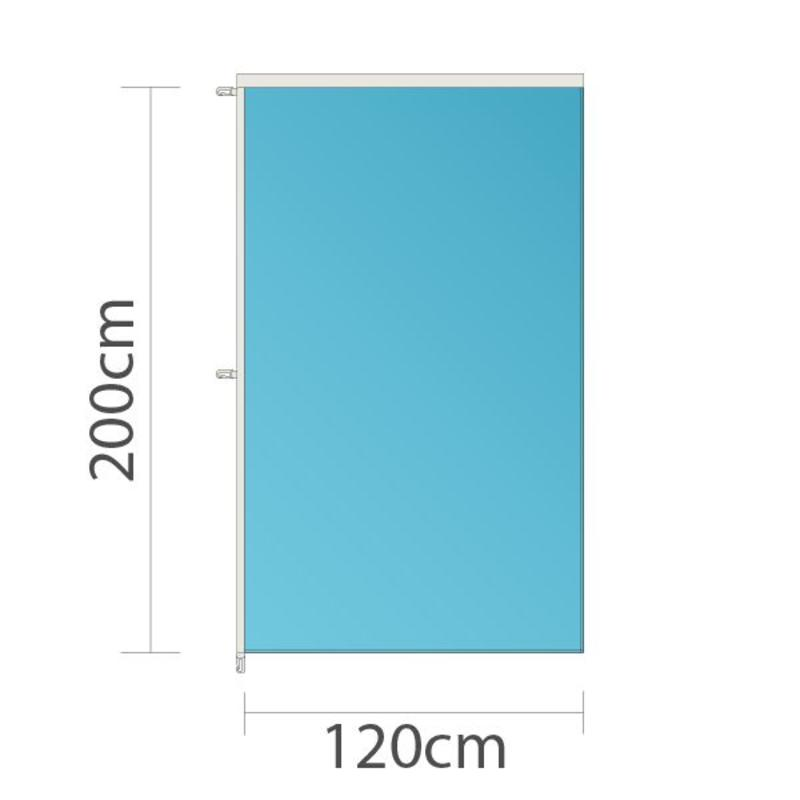 Banier, full colour bedrukt, 120x200cm