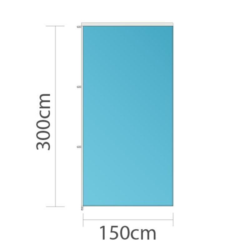 Banier, full colour bedrukt, 150x300cm