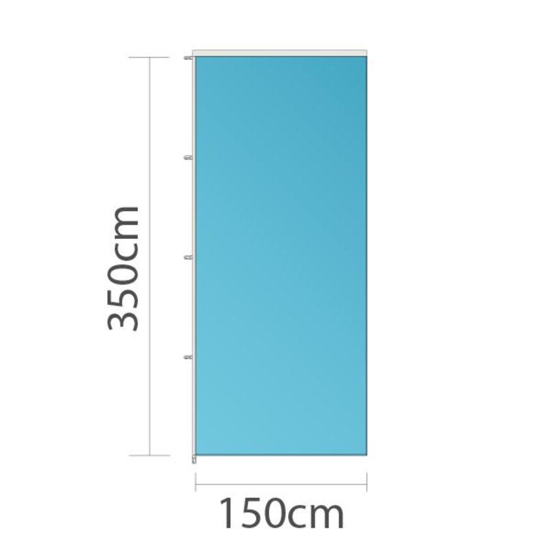 Banier, full colour bedrukt, 150x350cm
