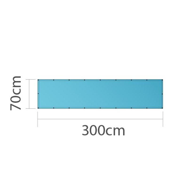 Spandoek, full colour bedrukt, 300x70cm