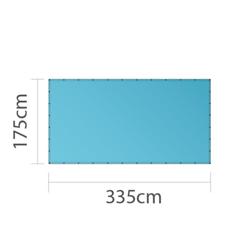 Bouwhekdoek, full colour bedrukt, 335x175cm