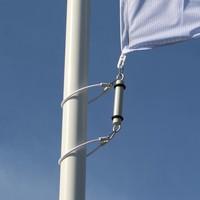 Contragewicht voor mastvlaggen