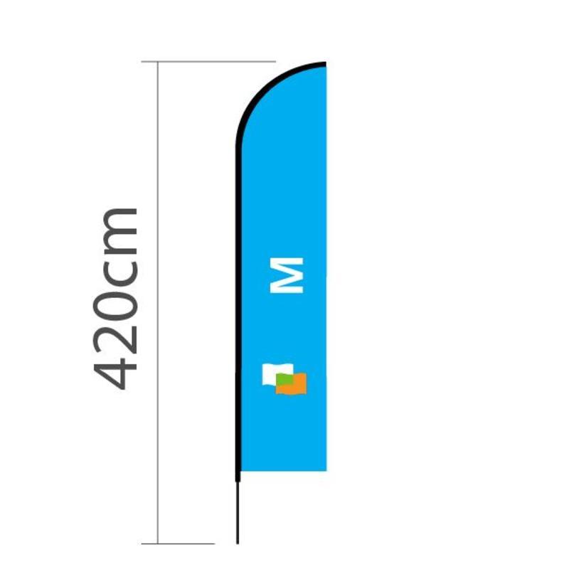 Beachvlag Straight M - 70x330cm