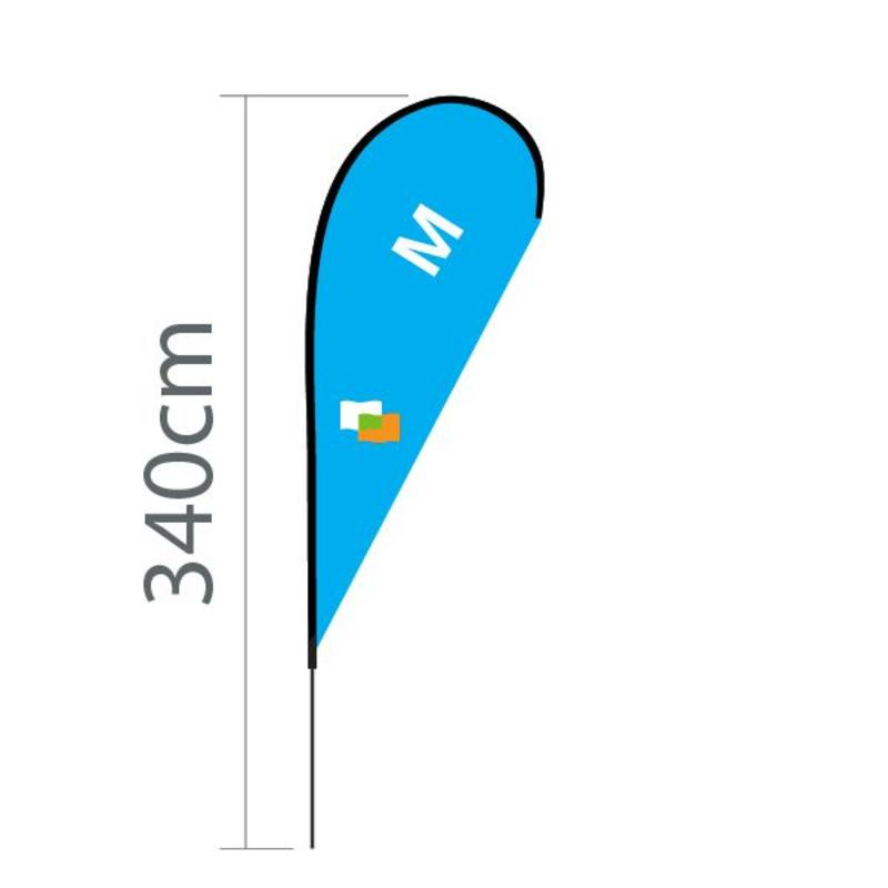 Beachvlag Flying M - 100x240cm