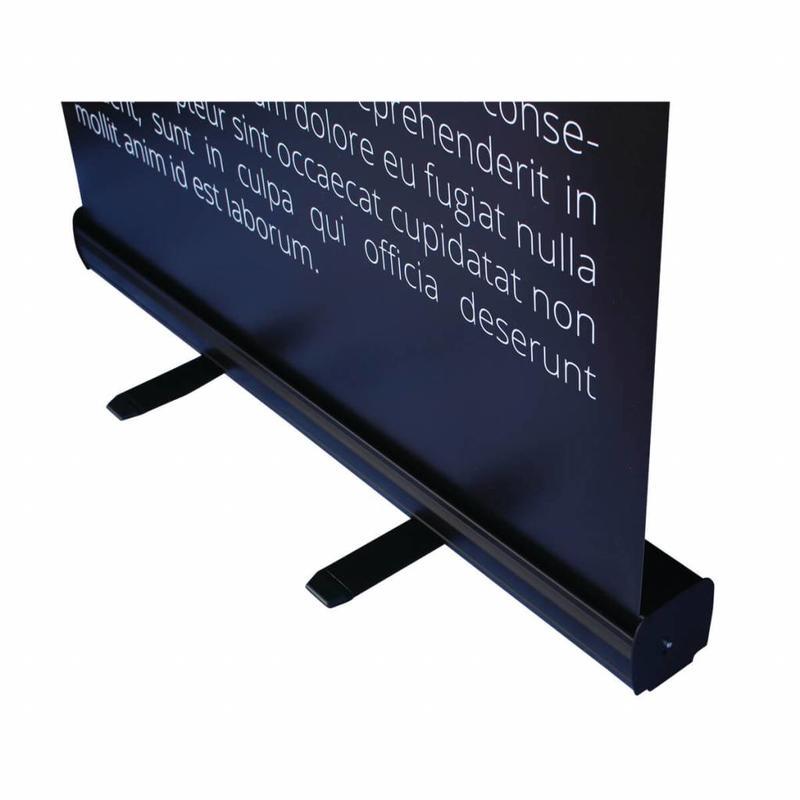Roll up banner black