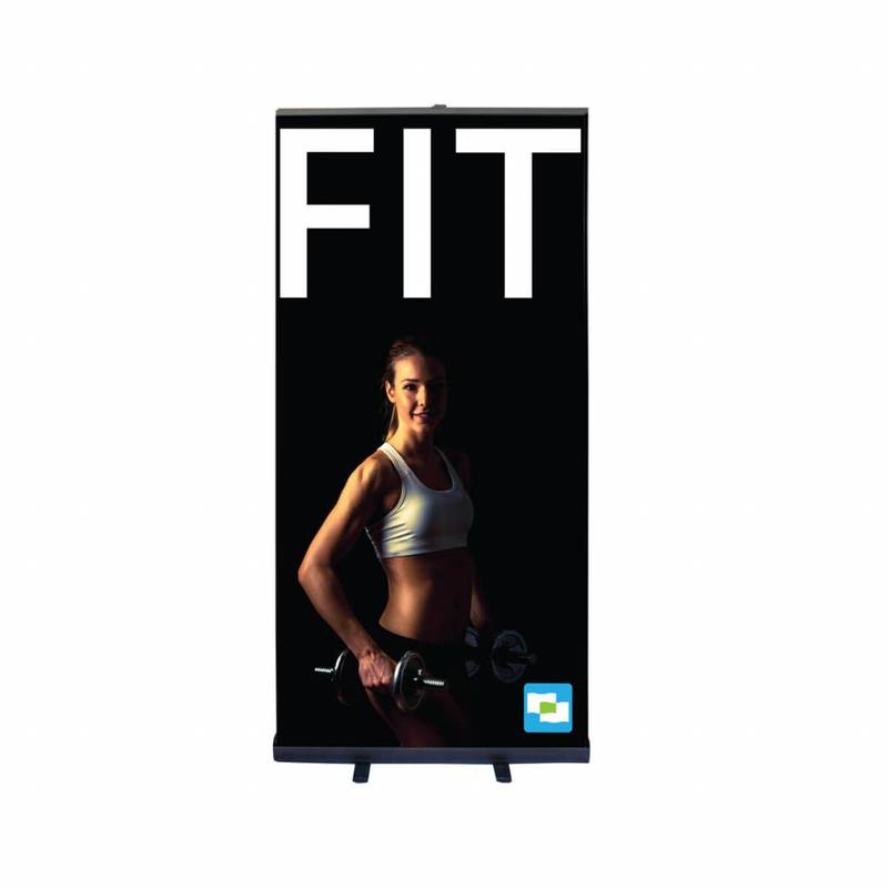 Roll up banner black 100