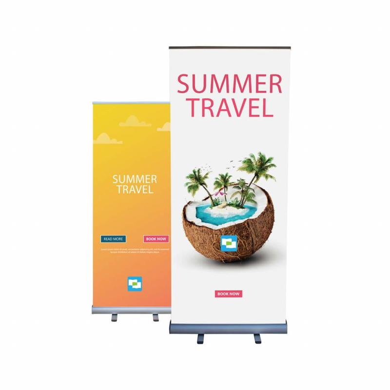 Roll up banner double sided 85