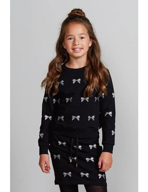 Jacky Girls Sweater met metallic strikjes