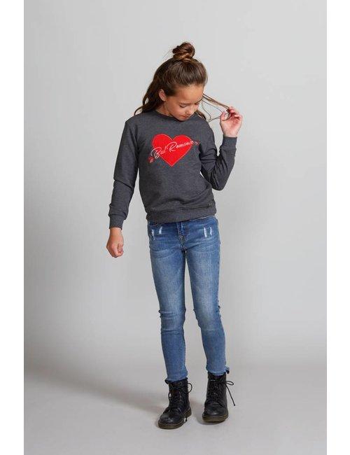 Jacky Girls Sweater met hart van fluweel