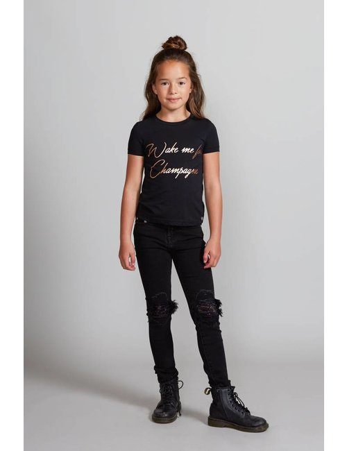 Jacky Girls Slim fit jeans met kanten details