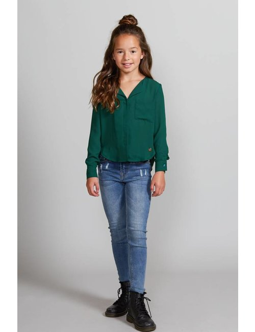 Jacky Girls Skinny fit jeans in middenblauwe wassing