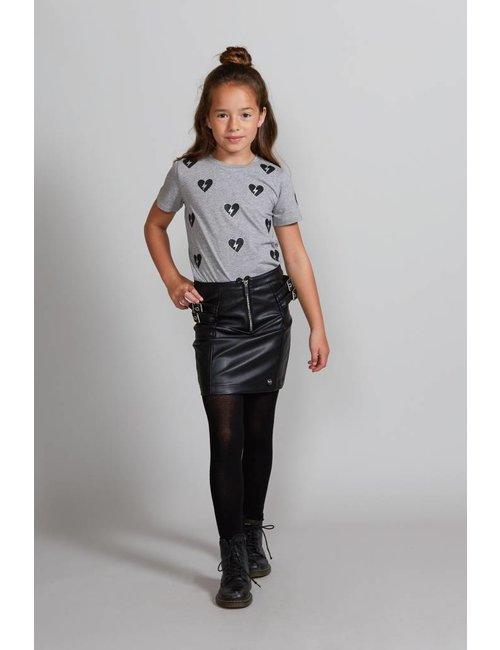 Jacky Girls T-shirt met  gebroken hartjes