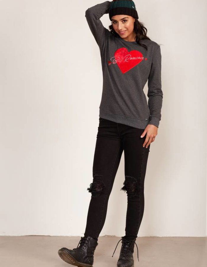 Sweater met hart van fluweel