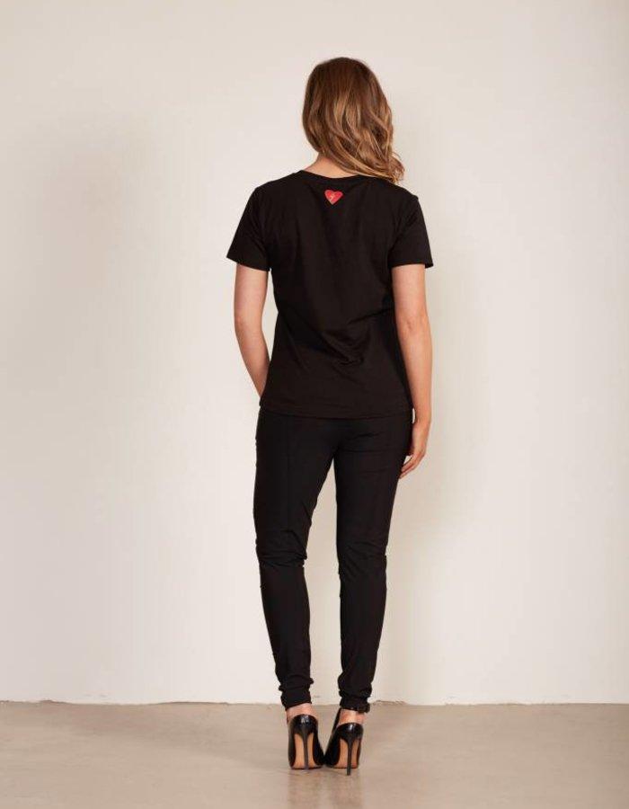 T-shirt met statement paillettenprint