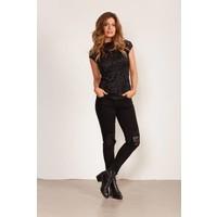 Skinny  fit jeans met kanten details