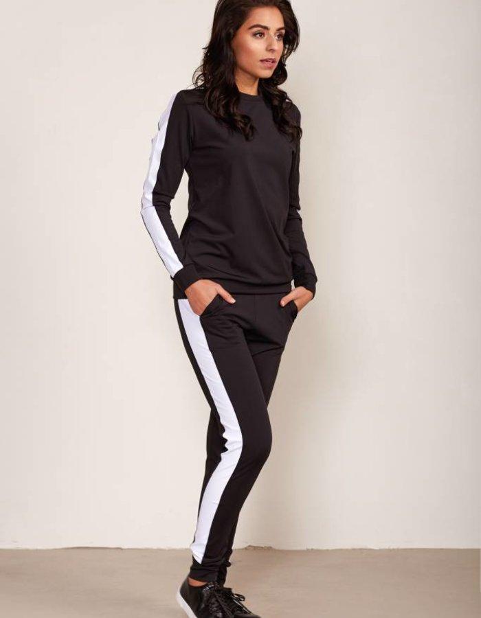 Traveller track pants met sportieve streep