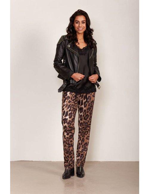 Jacky Luxury Track pants met luipaarddessin