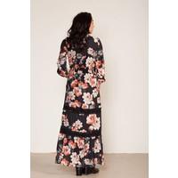 Maxidress met floral print