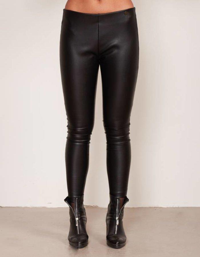 Legging met leather look