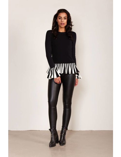 Jacky Luxury Legging met leather look
