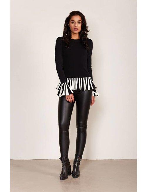 Jacky Luxury Legging met leather look