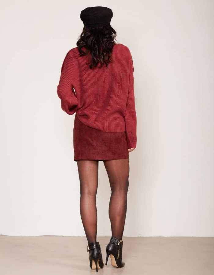 Pullover met knoopdetails