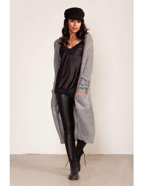 Jacky Luxury Extra lang gebreid vest