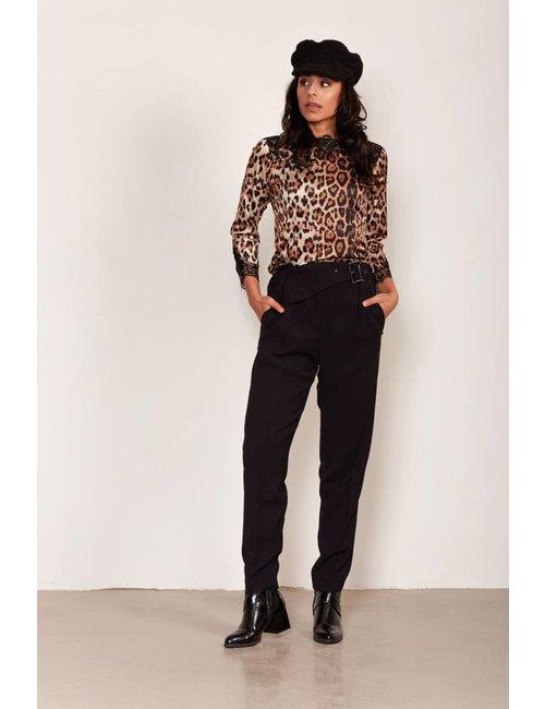 Jacky Luxury Top met luipaarddessin en kant