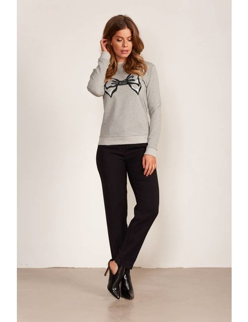 Jacky Luxury Bow tie sweater met metallic