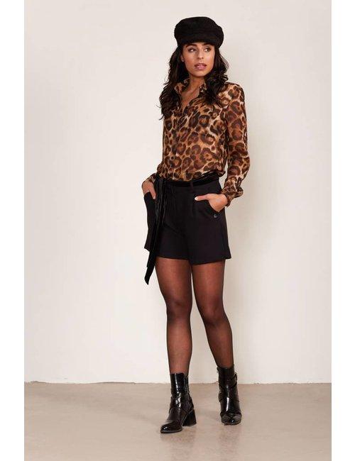 Jacky Luxury Shorts met velvet ceintuur