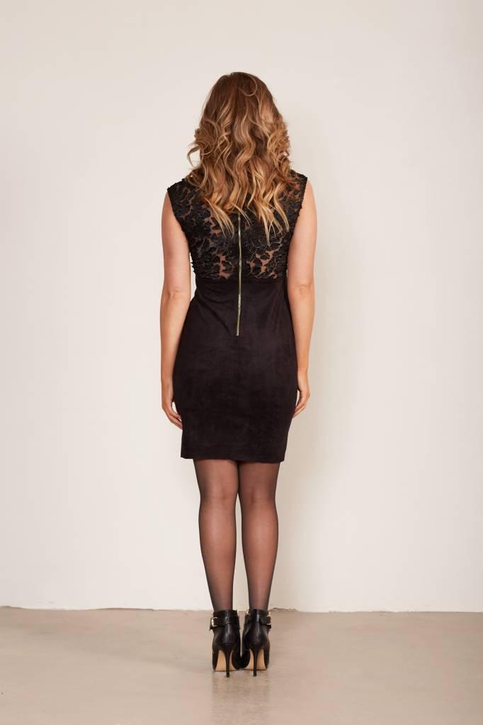 suede jurk met rits